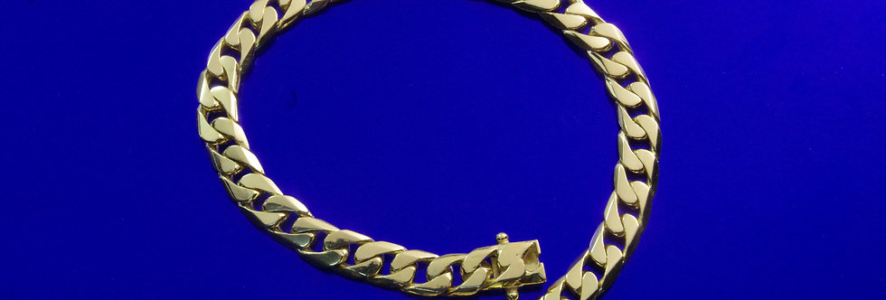 OAPUBAR44/0012 Pulsera caballero 21 cms x 7 mm. 30 grs de oro de 18 qts