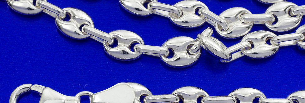 P60CALA2480 Cadena plata 6 mm x 60 cms