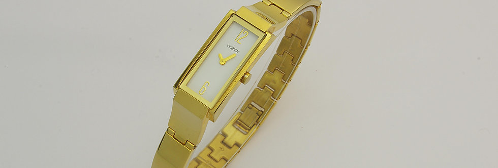 VIDO68-0979 Reloj viceroy señora de acero chapado en oro