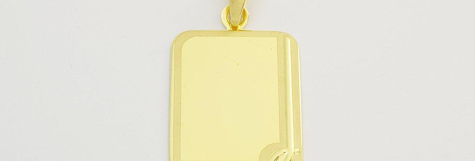 OAPLPLA41/0177 Placa 18 x 24 mm de oro de 18 qts