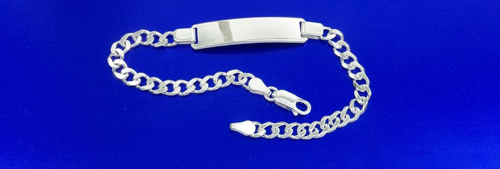 PPNOBAR46-2495 Nomeolvides plata de 8 mm de ancho macizo