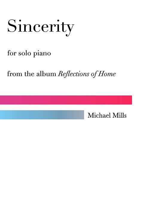 Sincerity (PDF) Piano Solo