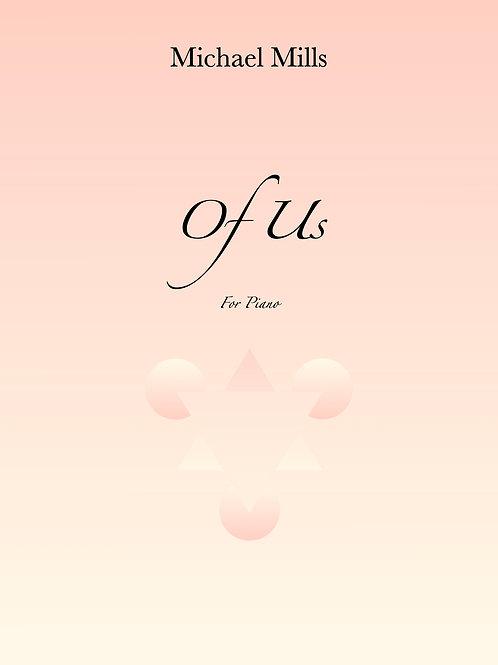 Of Us (PDF) Piano Solo