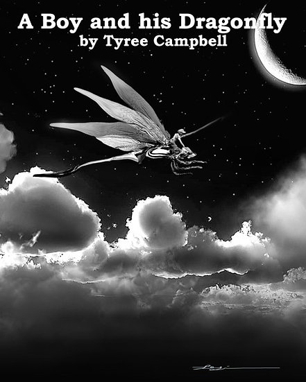 BOY AND HIS DRAGONFLY by Tyree Campbell