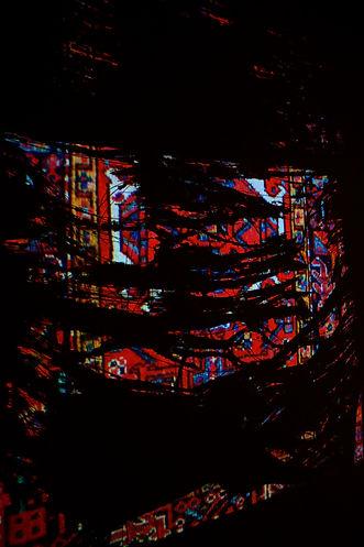 Sogand Tabatabaei/ Unwoven/ Mixed Media Installation/ 5'x6'/2021