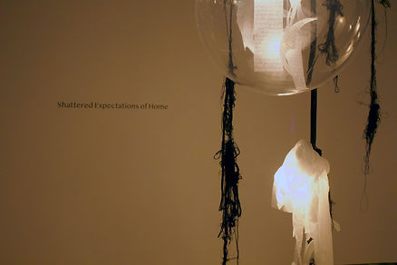 Sogand Tabatabaei/ Shattered Expectations of Home/ Mixed Media Installation/2021