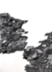 "Sogand Tabatabaei/ Landscape/ Ink on paper/ 4.5"" x 6.6""/ 2019"