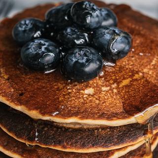 Cómo preparar Pancakes Blueberry con Kéfir