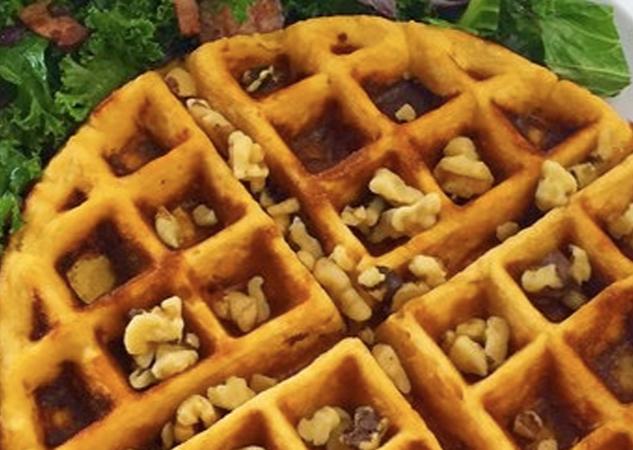 Cómo hacer unos Waffles de arándano con Kéfir