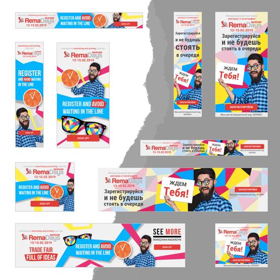 RemaDays - projekt banerów do kampanii Google Ads