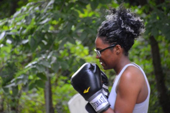 Lions Den Woman Boxing