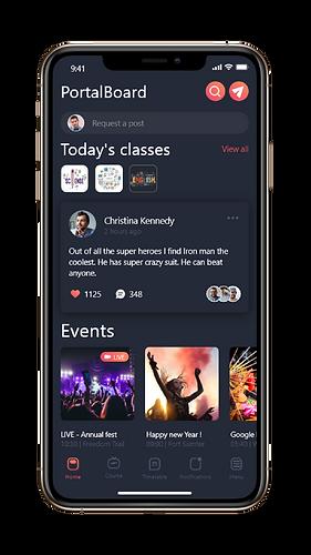 PortalBoard Mobile Home page