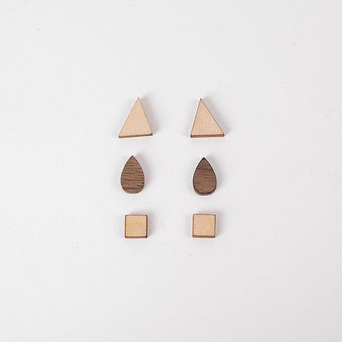 Boucles d'oreilles - Lot de 3