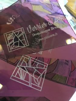 Gravure sur verre, vitrail, carte de visite - Glassverre - Dominique Brandt