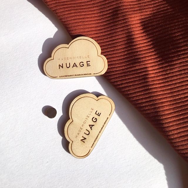Badge - Mademoiselle nuage