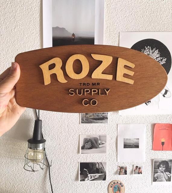 Plaque d'entreprise - Roze