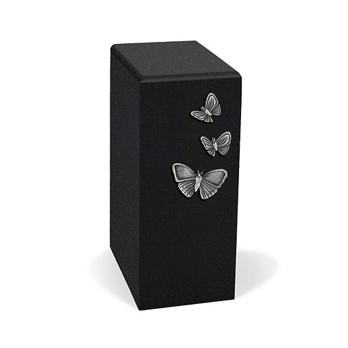 PD-BLACK-WITH  SILVER BUTTERFLIES