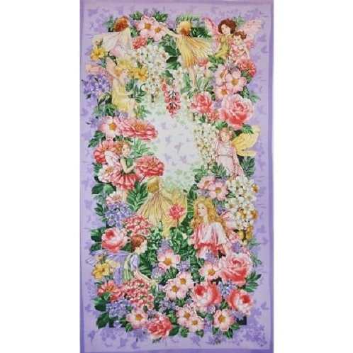 Michael Miller Dreamland Flower Fairies Fabric Panel
