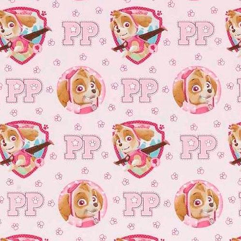 Paw Patrol Pink Skye Quilt Fabric