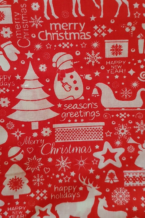 Happy Holidays Santa Christmas Quilt Fabric