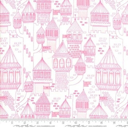 Once Upon A Time Pink Castles Quilt Fabric