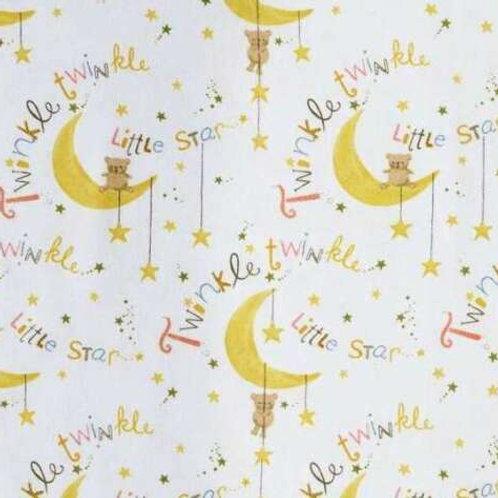 Twinkle Twinkle Little Star Flannel Quilt Fabric