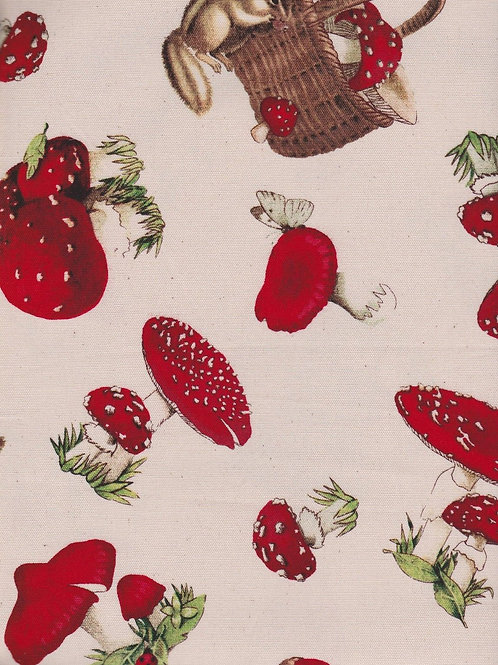 Quiltgate Red Toadstools Quilt Fabric