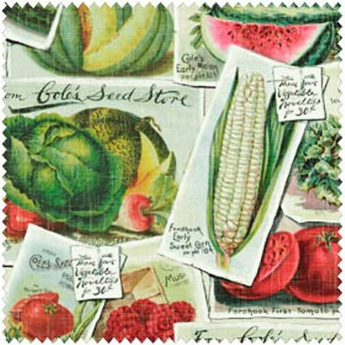 Windham Farm Stand Seed Packets Quilt Fabric