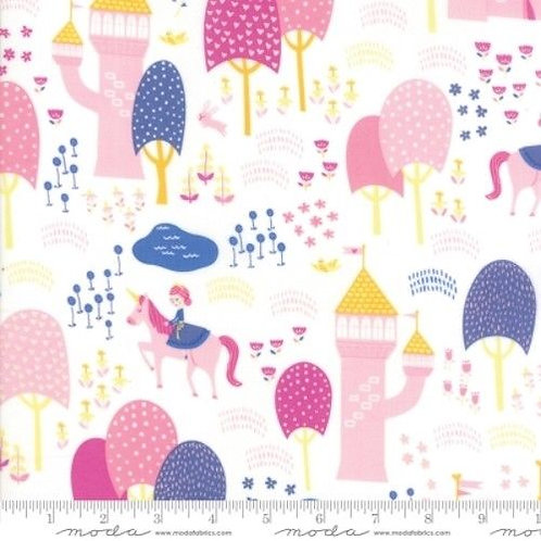 Once Upon A Time Princesses Castles Quilt Fabric