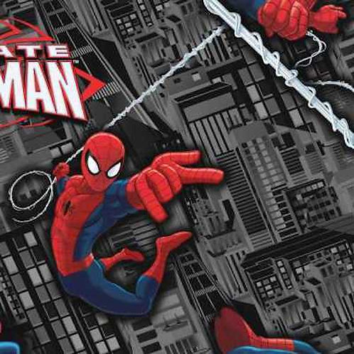 Spiderman Saving The City Quilt Fabric