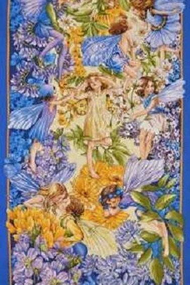 Michael Miller Dawn Till Dusk Flower Fairies Fabric Panel