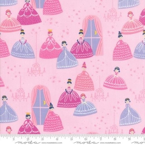 Once Upon A Time Pink Princesses Ballroom Stars Quilt Fabric