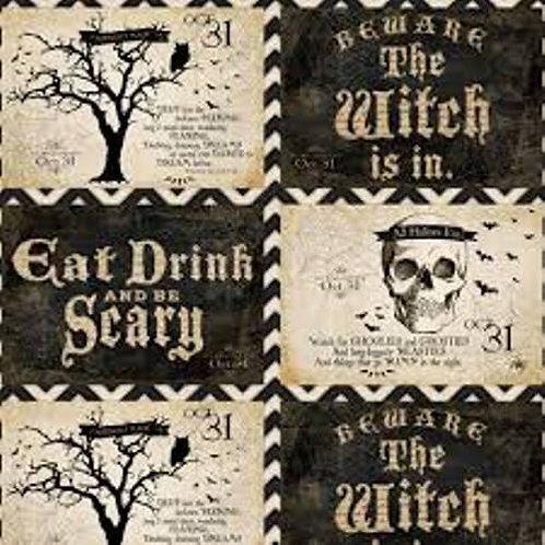 Something Wicked Halloween Fabric Panel