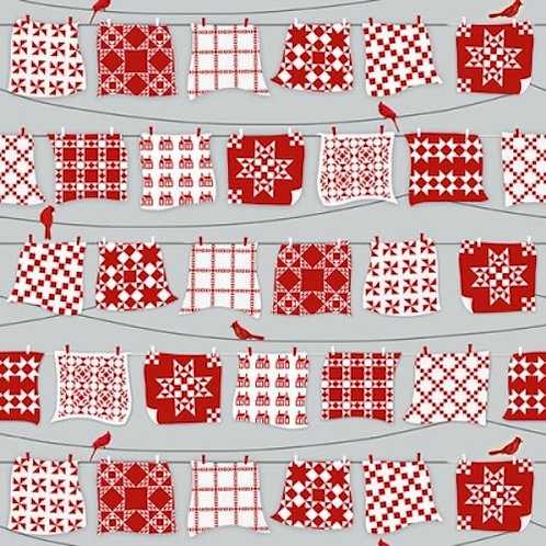 Holiday Heartland Quilts On The Washing Line Quilt Fabric