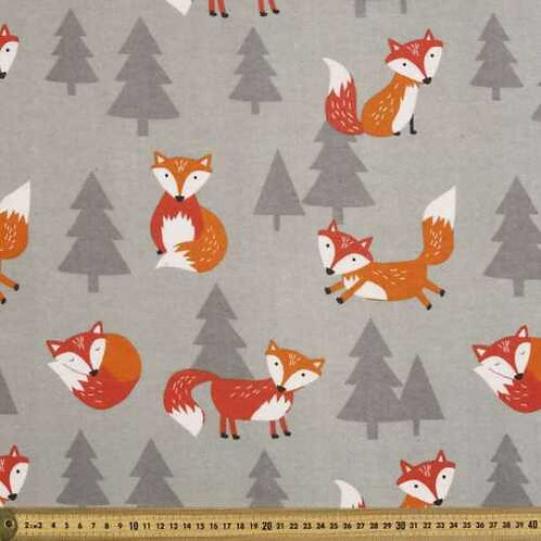 Frolic Foxes Flannel Quilt Fabric