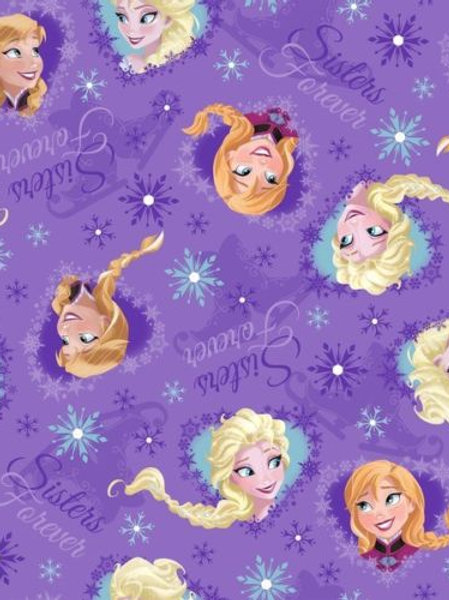 Frozen Elsa Ana Sisters Forever Quilt Fabric