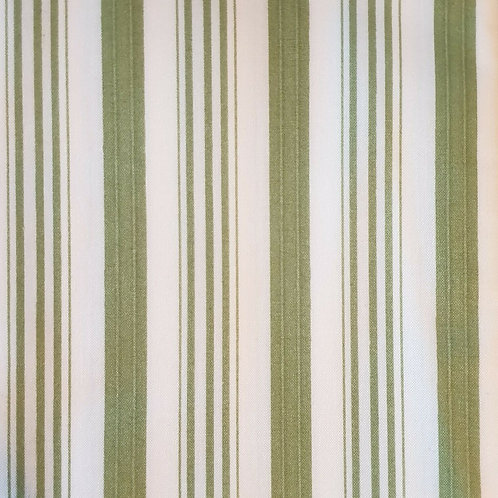 Barefoot Roses Green Awning Stripe Rare Out of Print Quilt Fabric
