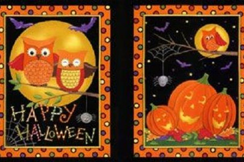 Happy Howloween Halloween Quilt Fabric Panel