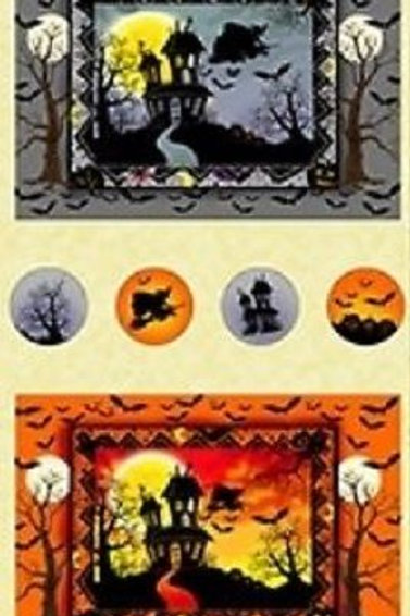 Witches Brew Haha Halloween Quilt Fabric Panel