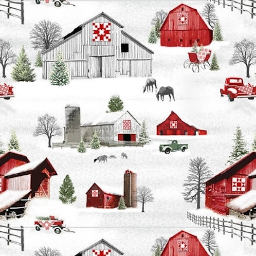 Holiday Heartland Country Christmas Quilt Fabric