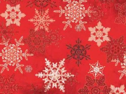 Winter Celebration Snowflakes Metallic Quilt Fabric