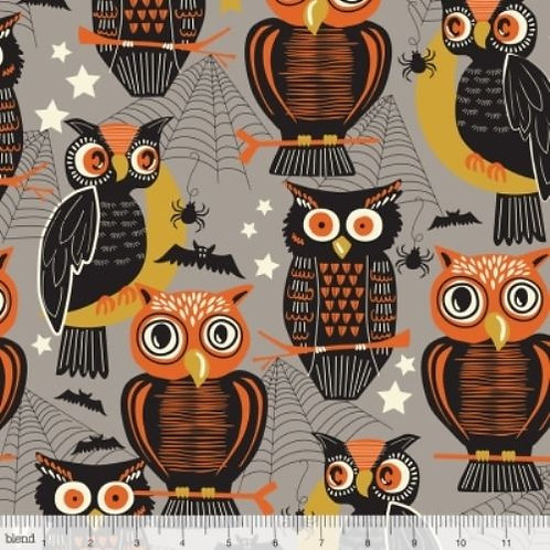 Spooktacular Eve Owls Halloween Quilt Fabric