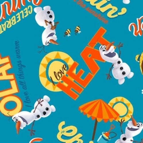 Frozen Olaf Celebrate Summer Quilt Fabric