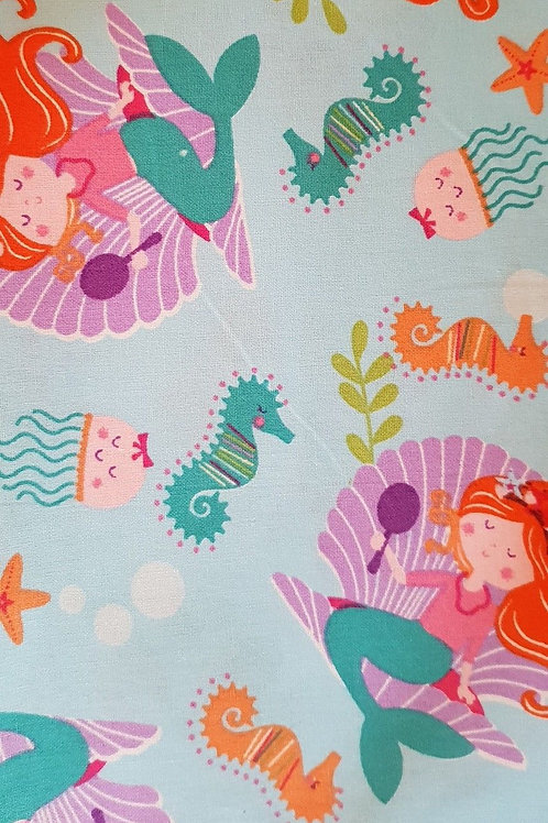 Pretty Mermaids Quilt Fabric