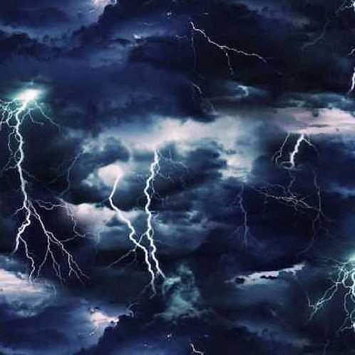 Lightning Storm Landscape Quilt Fabric
