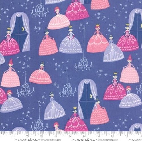 Once Upon A Time Purple Princesses Ballroom Stars Quilt Fabric
