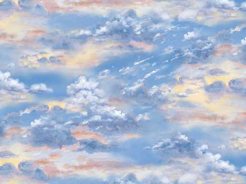 Sunset Sky Landscape Quilt Fabric