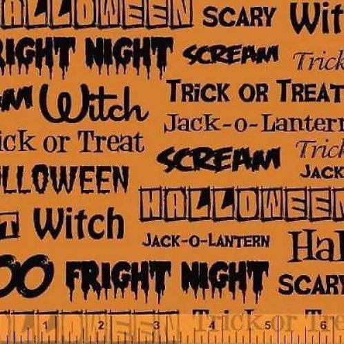 Fright Night Halloween Quilt Fabric