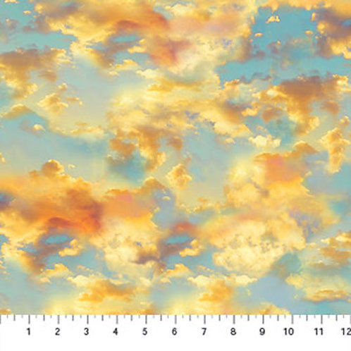 The View From Here Sunset Sky Landscape Quilt Fabric