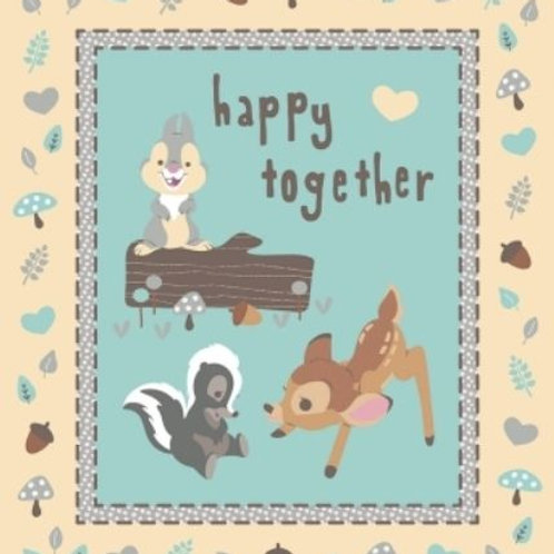 Bambi & Friends Happy Together Quilt Fabric Panel